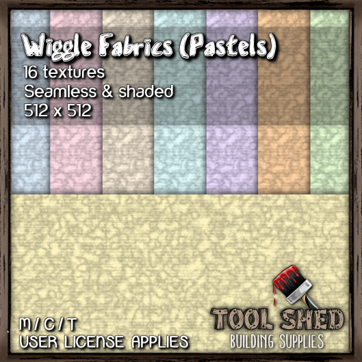 Tool Shed - Wiggle Fabric - Pastels Ad